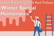 Installing Retaining Walls and Winter Maintenance